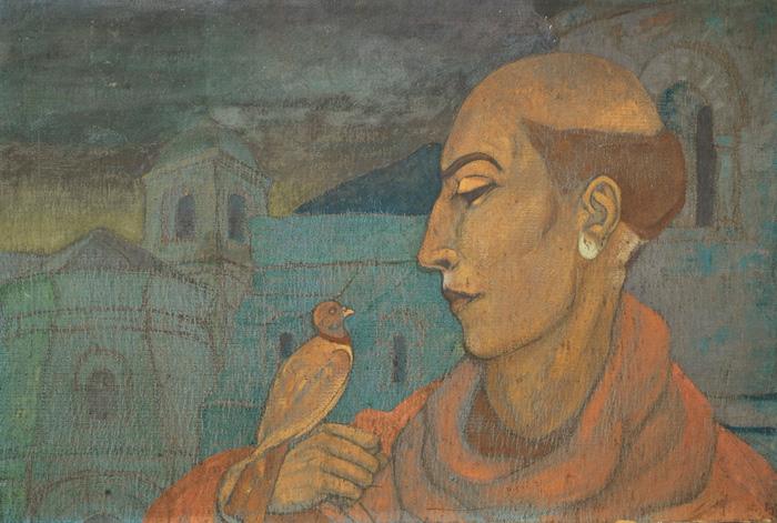 С.Н.Рерих.  Святой Франциск Ассизский. 1923.