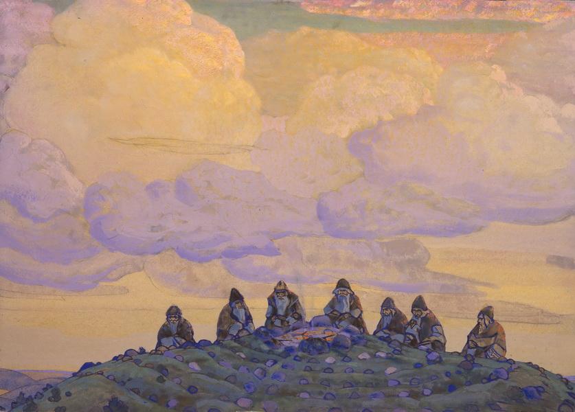 Н.К. Рерих. Великая жертва (3-й вариант). 1910