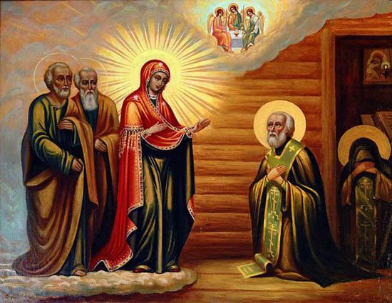 Явление Богородицы Преподобному Сергию.