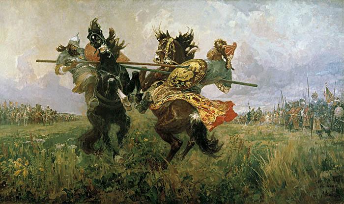 М.И. Авилов. Поединок Пересвета с Челубеем