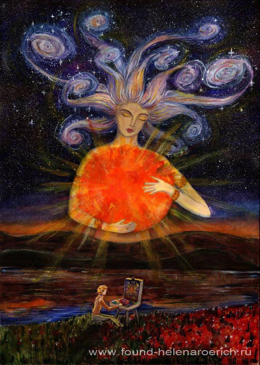 Белавина Алена, 16 лет. Космос глазами художника. Космическая гелерея Благотворительного Фонда имени Е.И. Рерих
