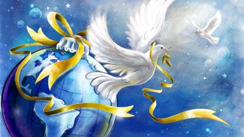 Мир, единение, эволюционное развитие человечества