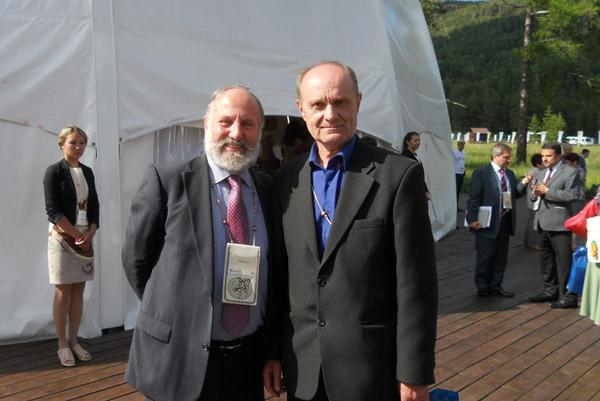 Президент Ассоциации по сохранению русского культурного наследия во Франции Рене Герра и автор статьи