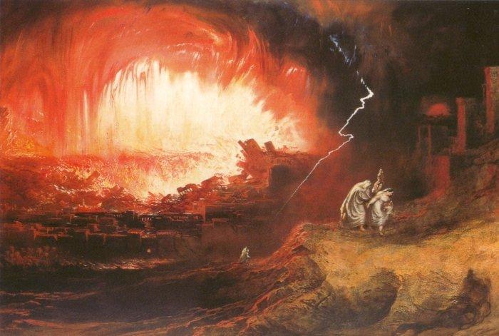 Джон Мартин. «Гибель Содома и Гоморы». 1852.