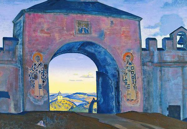 Н.К.Рерих. И мы открываем врата. 1922. Серия Санкта.