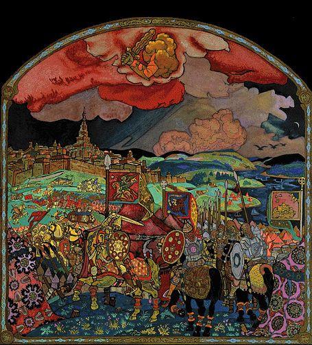 Н.К.Рерих. Покорение Казани. 1914.