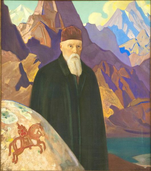 С.Н.Рерих. Портрет Н.К.Рериха на фоне гор. 1934