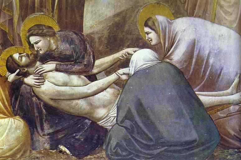 Мазаччо. Жены - мироносицы у гроба Христа