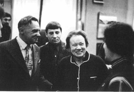 П.Ф. Беликов, Г.В. Гаврилов, Л.В. Шапошникова Новосибирск, 1976 г.  Из архива Международного Центра Рерихов
