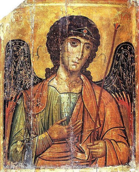 Архистратиг Михаил. Византийская икона. XIII в