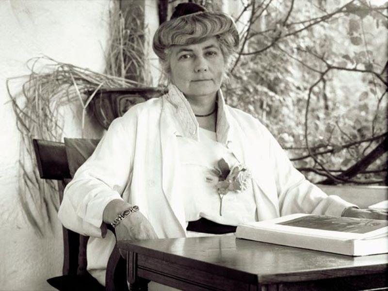 Елена Ивановна Рерих. 1942 год.
