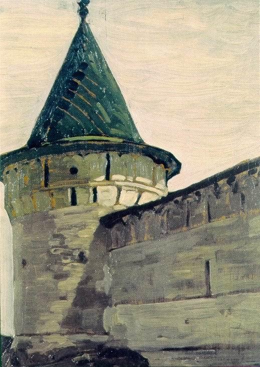 Н.К. Рерих. Кострома. Башня  Ипатьевского монастыря. 1903.