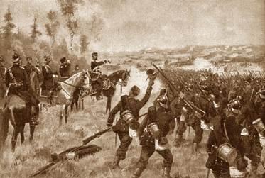 Французские зуавы против войск Гарибальди