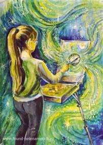 Мурашова Елизавета, 12 лет. Создай свою Вселенную. Космическая галерея Благотворительного Фонда имени Е.И.Рерих