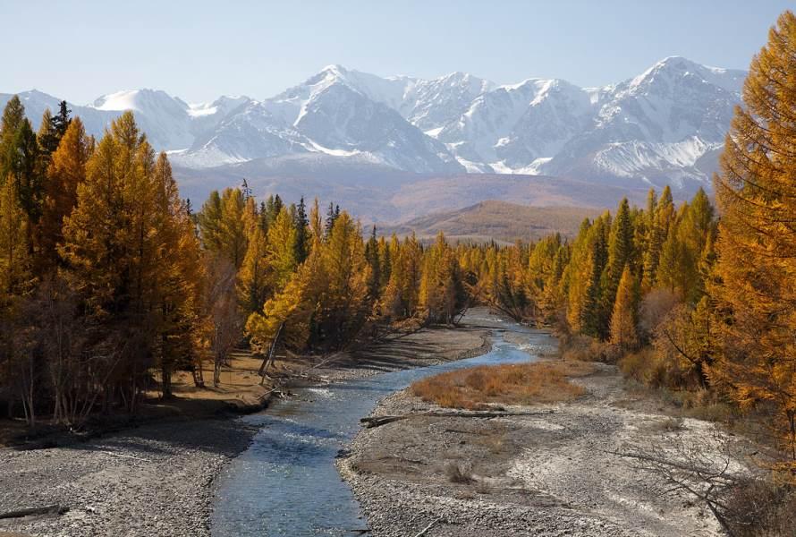 Долина реки Актру. Алтай.