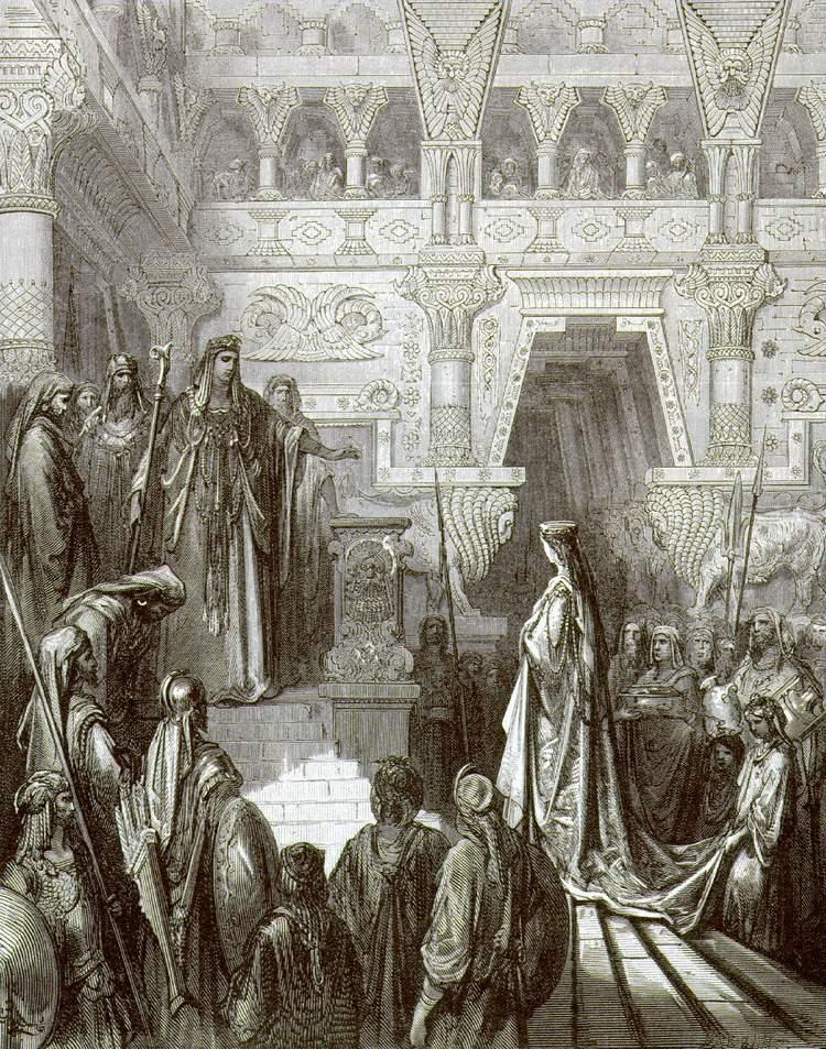 Гюстав Доре. Соломон и царица Савская. 1866