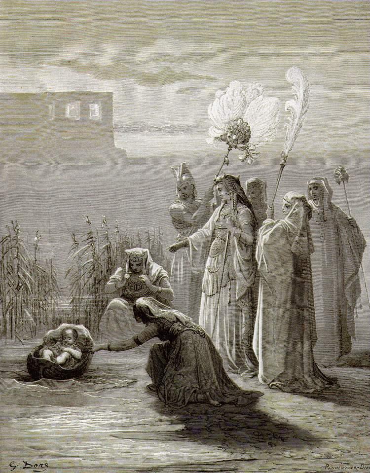 Гюстав Доре. Дочь фараона находит Моисея. 1864-1866