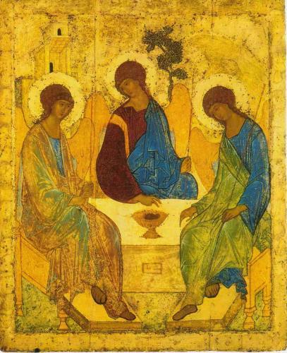 Андрей Рублёв. Троица. 1411
