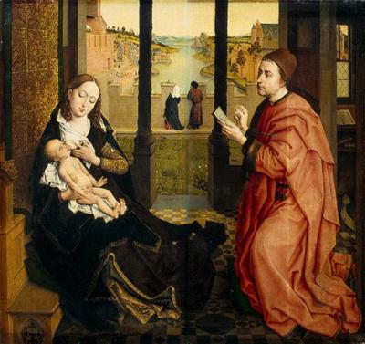 Р. Вейден (1399/1400 - 1464). Лука рисует Матерь Божью с Иисусом