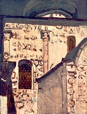 Н.К. Рерих.  Юрьев-Польской. Георгиевский собор.  1903.