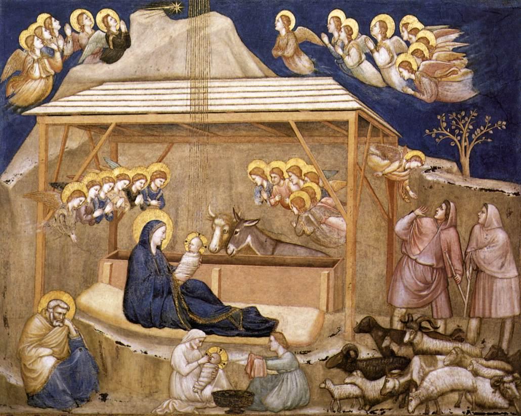 Джотто. Рождество Христово.  Собор Святого Франциска. Ассизи. 1315/20 гг.
