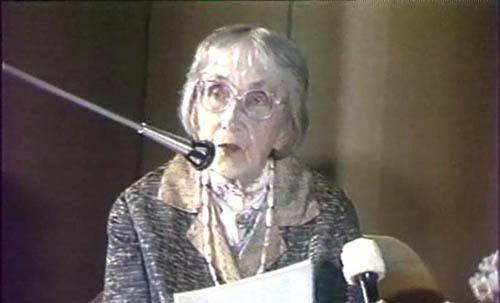 Наталия Дмитриевна Спирина на конференции, посвящённой   Е.П. Блаватской. 1991 г.  Новосибирск.