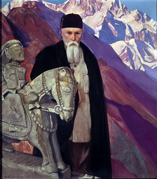 С.Н.Рерих. Портрет Н.К.Рериха. 1937