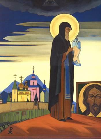 Н.К.Рерих. Святой Сергий. 1932