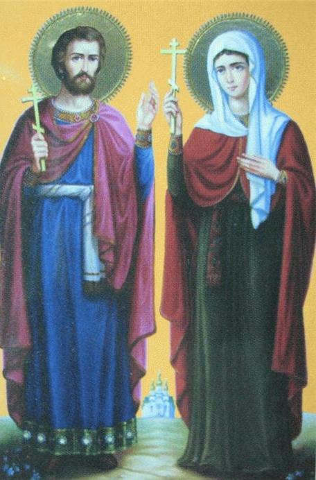 Святые великомученики Адриан и Наталия.