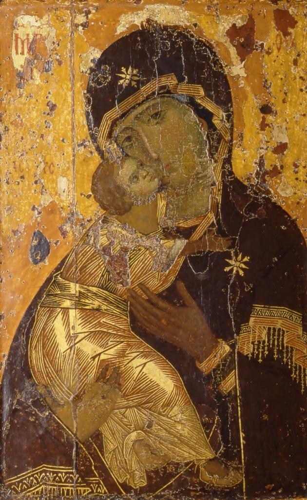 Икона Божией Матери Владимировская. XII в.