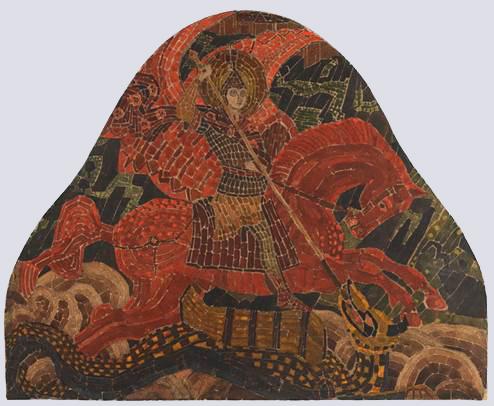 Н.К.Рерих. Святой Михаил Архистратиг. (Эскиз мозаики). 1906