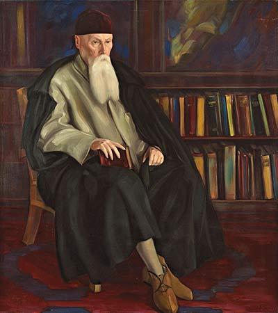 С.Н.Рерих. Портрет профессора Николая Рериха. 1942.