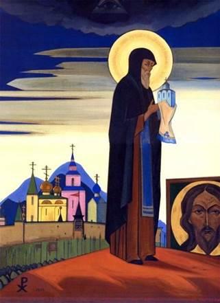 Н.К. Рерих. Сергий Радонежский. 1932