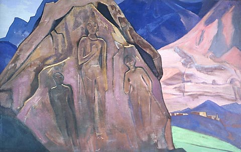 Н.К.Рерих. Майтрейя. (Гиганты Лахуля). 1931.