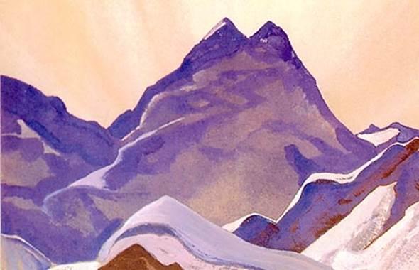 Н.К.Рерих. Гора. (Гималаи). 1936 (1937). Аллахабадский муниципальный музей. Индия