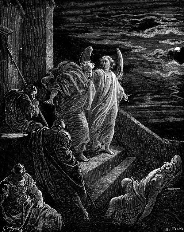 Г.Доре. Освобождение Апостола Петра из темницы. 1886