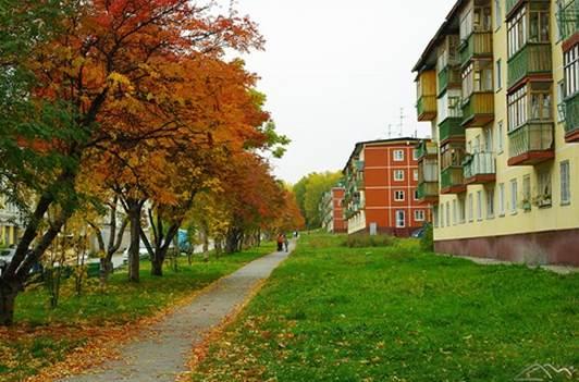 Цветной проезд. Новосибирский Академгородок.  (Современное фото)