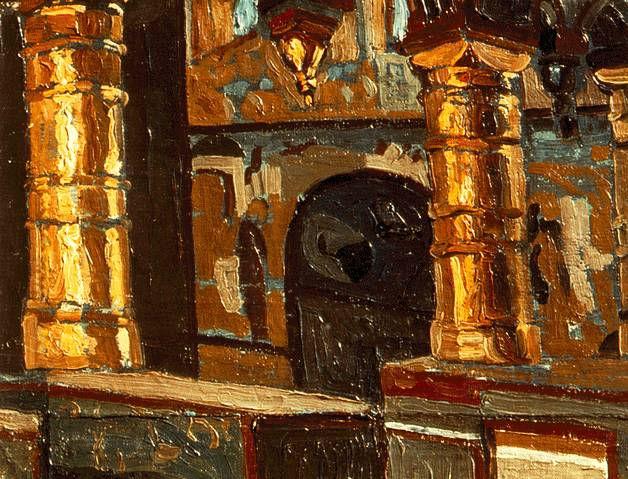 Н.К.Рерих. Ростов Великий. Интерьер Церкви  Спаса на Сенях. 1903.