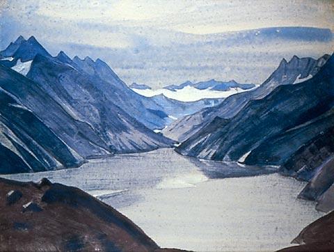 Н.К. Рерих. Озеро Нагов. Серия «Озёра и Гильгитский путь». 1925.