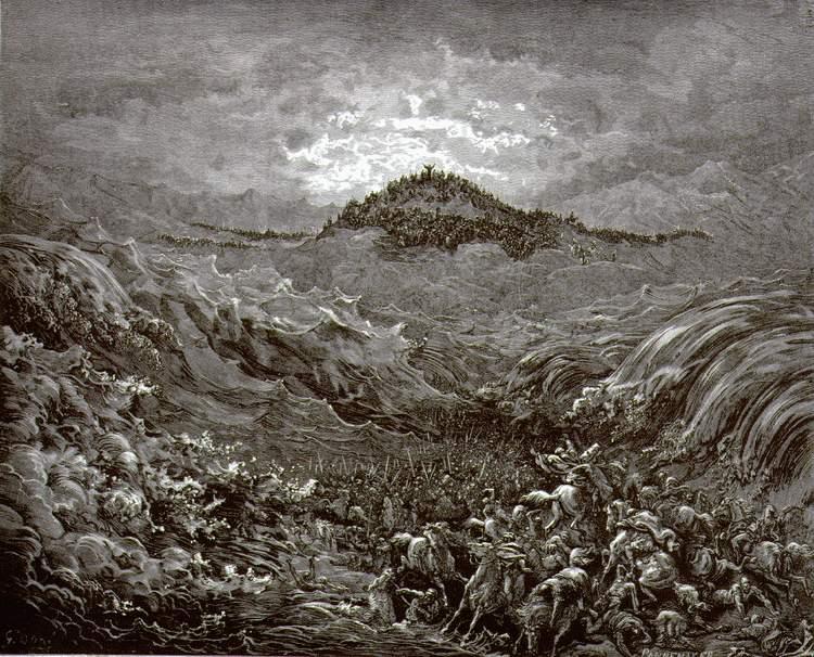 Гюстав Доре. Египтяне гибнут в Красном море. 1864-1866