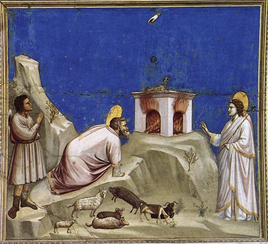Джотто 1267-1337). Ангел посетил апостола Луку