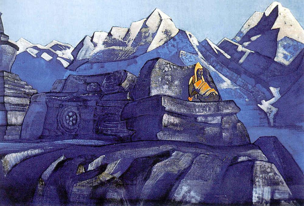 Н.К.Рерих. Цзонкхапа. Серия «Знамёна Востока». 1924.