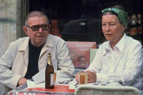 Жан-Поль Сартр и Симона де Бовуар в Риме, 1978 г.