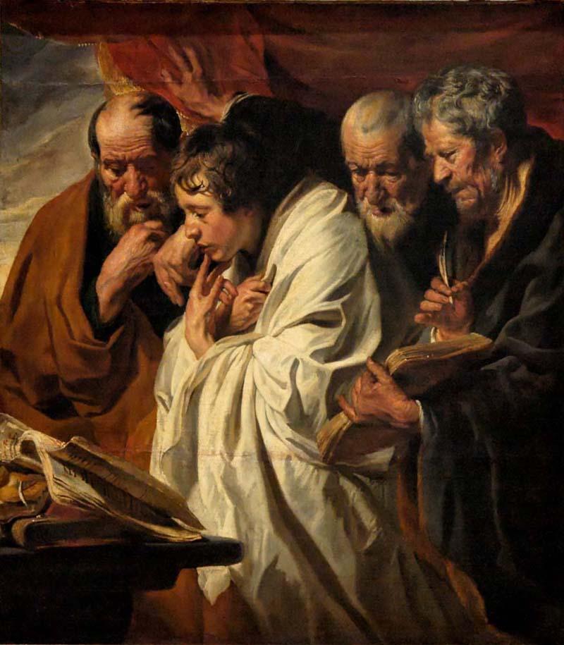 Йорданс, Якоб  (1593- 1678). Четыре Евангелиста.