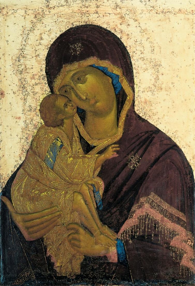 Икона Божией Матери Донская.  XIV в.