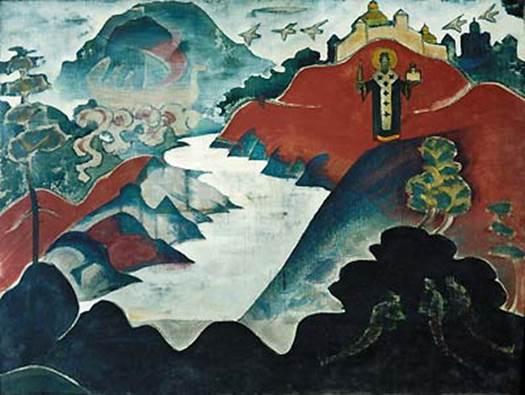 Н.К.Рерих. Святой Николай. 1920