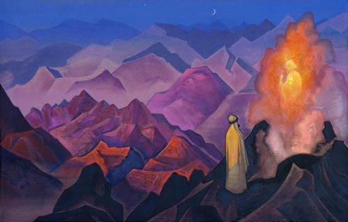 Н.К.Рерих. Пророк Магомет на горе Хира. 1938