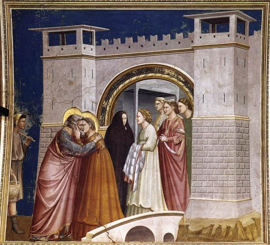 Джотто  (1267-1337).  Прощание .
