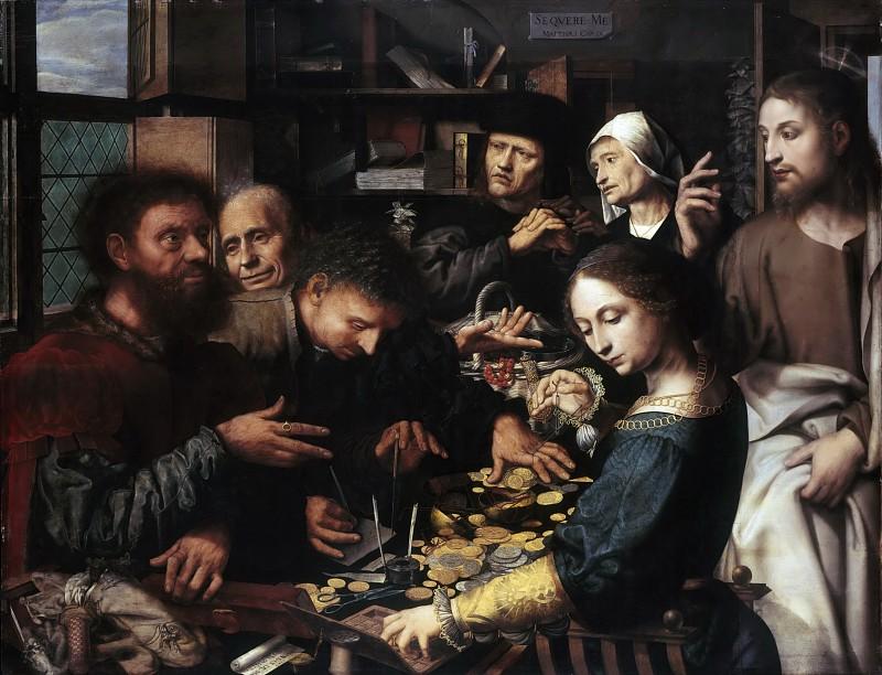 Ян Сандерс ван Хемессен (1500-1565).  Призвание Матфея