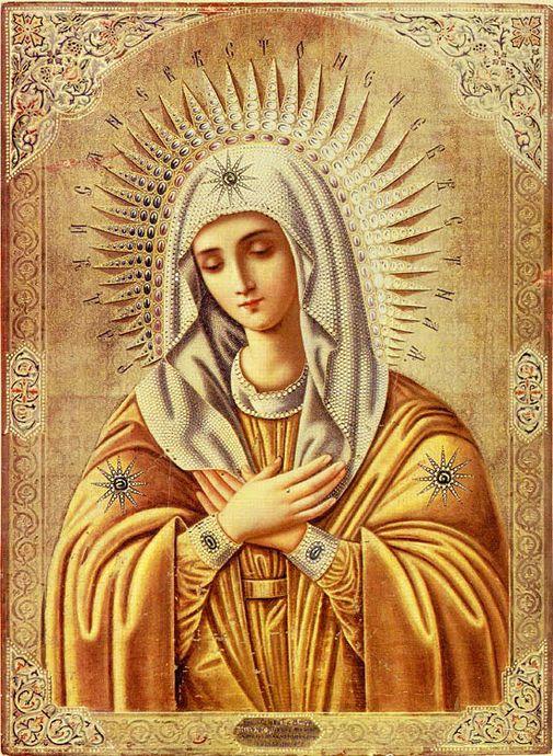 Икона Божией Матери «Умиление». XVIII в.